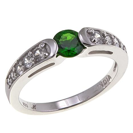 Gem RoManse by Robert Manse 0.76ctw Chrome Diopside and Zircon Ring