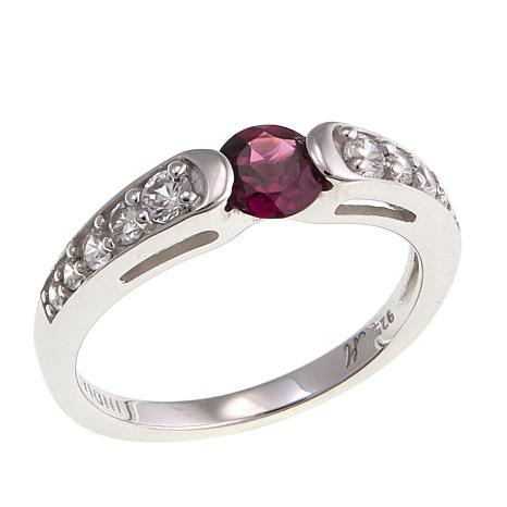 Gem RoManse by Robert Manse 0.86ctw Rhodolite and Zircon Ring