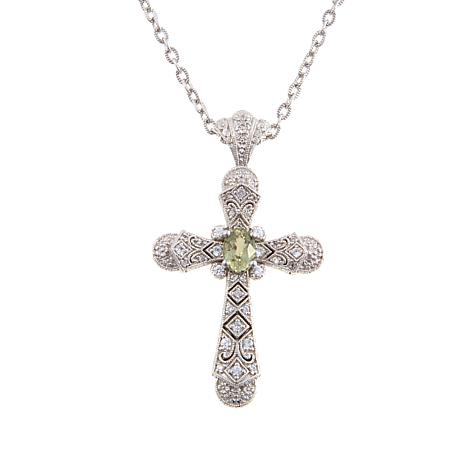 Generations® 1912 1.23ctw Diaspore and Zircon Cross