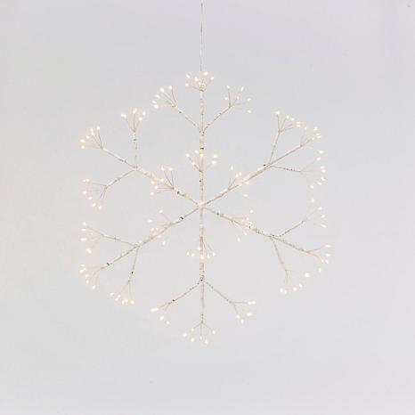 "Gerson 16"" Battery Operated Lighted Hanging Snowflake"