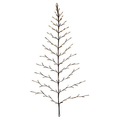 Gerson 4-Ft High Electric Flat Tree Birch Wall Hanging w/Timer Feature