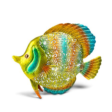 Gerson Metal and PVC Tropical Fish - Multi-Color