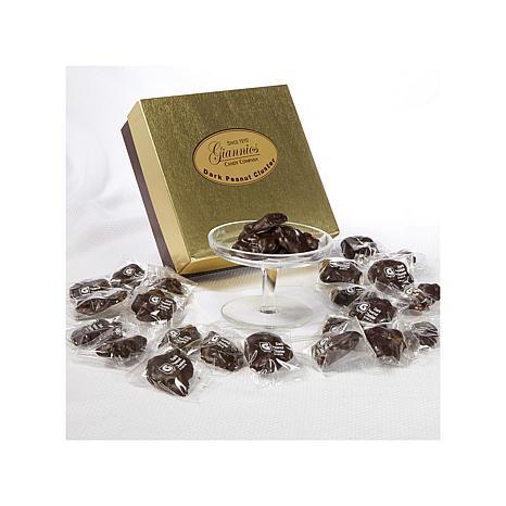 Giannios 1 lb. of Dark Peanut Clusters in Signature Box