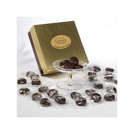 Giannios 1 lb. of Peppermint Patties in a Golden Box