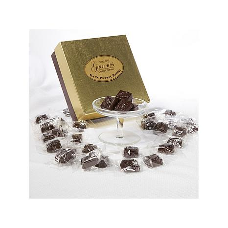 Giannios 1 lb. Peanut Butter Chocolates in Golden Box