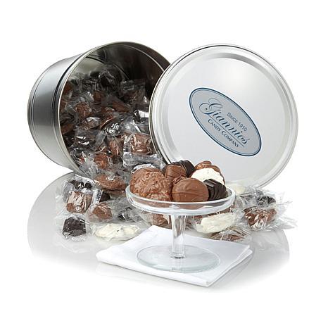 Giannios 5.5 lbs. Assorted Chocolates in Silver Tin