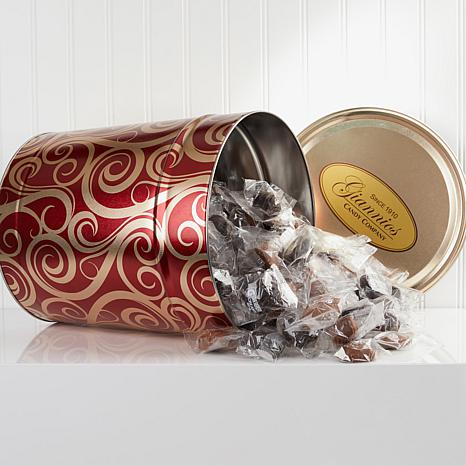 Giannios 8.25 lbs. Assorted Chocolates in Golden Swirl Tin ...