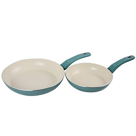 """Gibson Coffee House 12"""" Frying Pan with Soft Touch in Sky Blue"""
