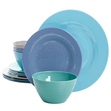 Gibson Home Candice 12-piece Dinnerware Set in Assorted Colors