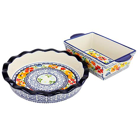 Gibson Home Central Station Stoneware Pie Dish and Bakeware Set