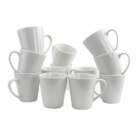 Gibson Home Finer Details 12-piece 12 oz. Mug Set in White