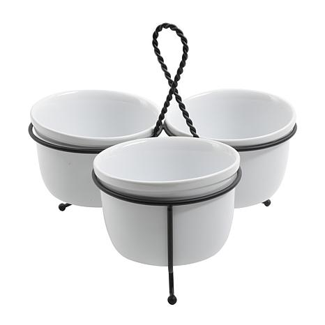 Gibson Hosting with Grace 3pc Tidbit Dish Set - in White