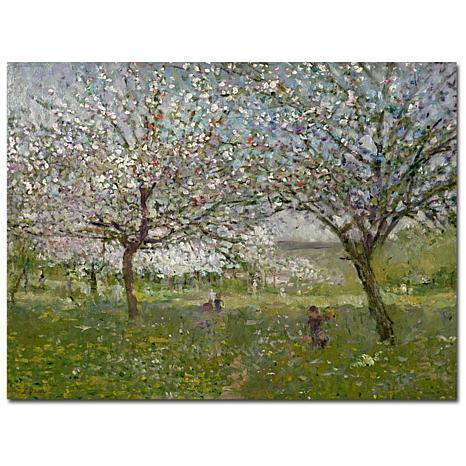 "Giclee Print - Apple Trees in Flower 24"" x 18"""