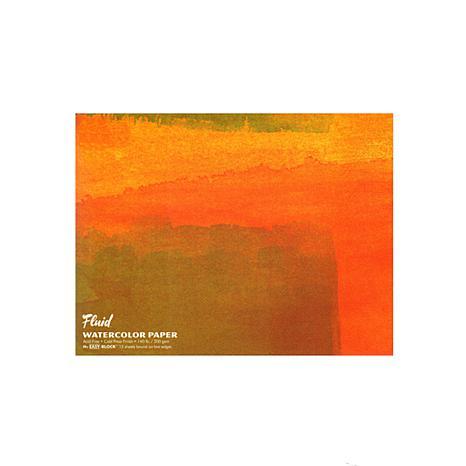 Global Art Fluid Cold Press Watercolor Paper Block- 15 sheets, 16 x 20