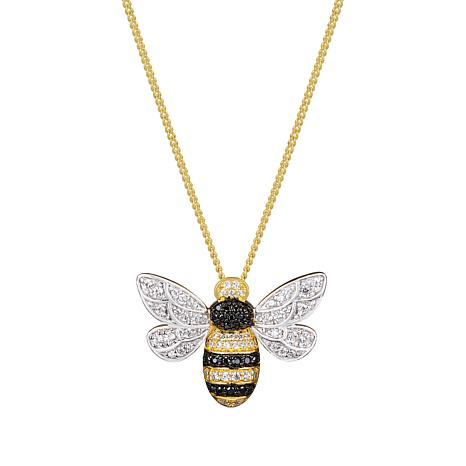 11f44a247 Gold-Plated Sterling Silver Cubic Zirconia Bumblebee Necklace - 9020870 |  HSN