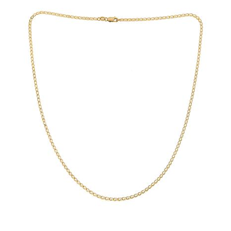 """Golden Treasures 14K Italian Gold Crystal Cage Link Chain - 17-3/4"""""""