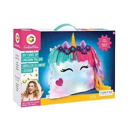 GoldieBlox Light-Up Unicorn Pillow