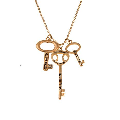 """Good Work(s) """"Believing in His Words"""" 30"""" Key Necklace"""