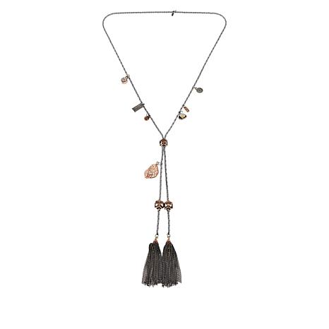 "Good Work(s) ""Joyful"" 24"" Multi-Dangle Tassel Necklace"