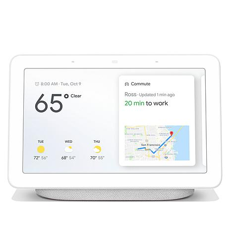 """Google Home Hub Voice Activated 7"""" Touchscreen Smart Assistant Speaker"""