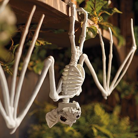 Grandin Road Skeleton Bat Figurine