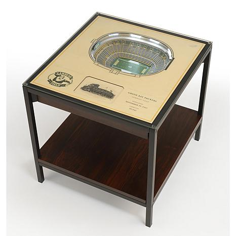 Green Bay Packers 25-Layer Stadium Views Lighted End Table