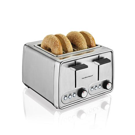 Hamilton Beach Modern Chrome 4 Slice Toaster 24791