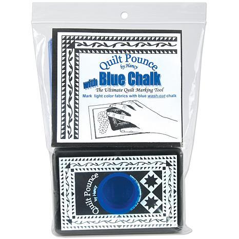 Hancy Quilt Pounce Pad with Chalk Powder - Blue Chalk