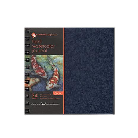 "Hand Book Journal Co. Field Watercolor Journal 6"" x 6"" - 24 Sheets"