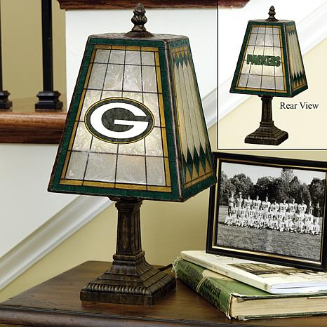 Handpainted Art Glass Team Lamp - Green Bay Packers