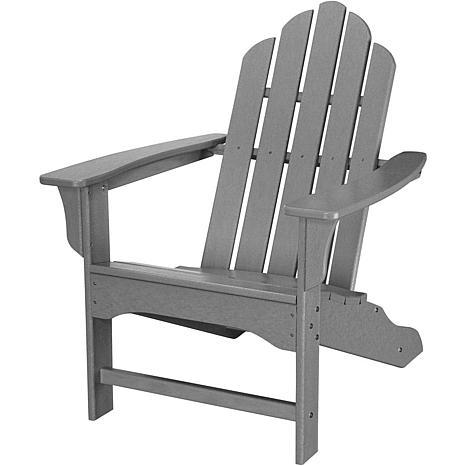 Hanover All-Weather Contoured Adirondack Chair - Grey