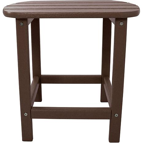 Hanover All-Weather Side Table - Mahogany
