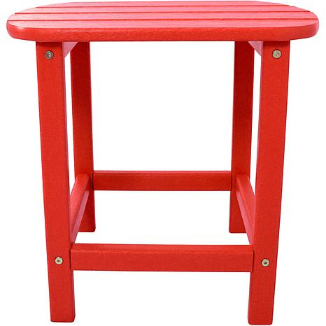 Hanover All-Weather Side Table - Sunset Red