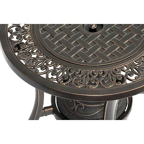 Hanover cast top gas fire urn side table 8055541 hsn for Concreteworks fire table
