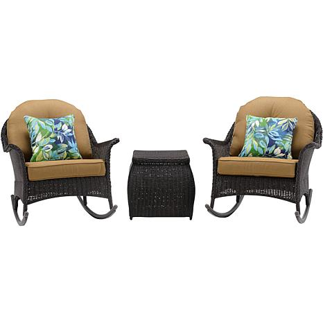 Hanover San Marino 3-Piece Rocking Chat Set
