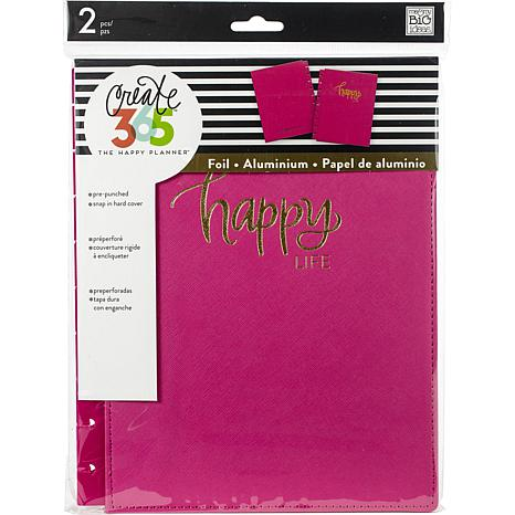 Happy Planner Medium Snap-In Hard Planner Cover - Pink Happy Life