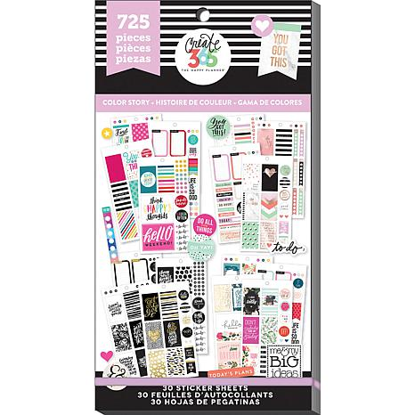 Happy Planner Sticker Value Pack Color Story Classic 8786865 Hsn