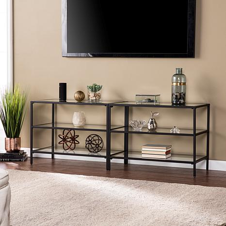 Harris Metal Glass 60 Tv Stand Matte Black 8521749 Hsn