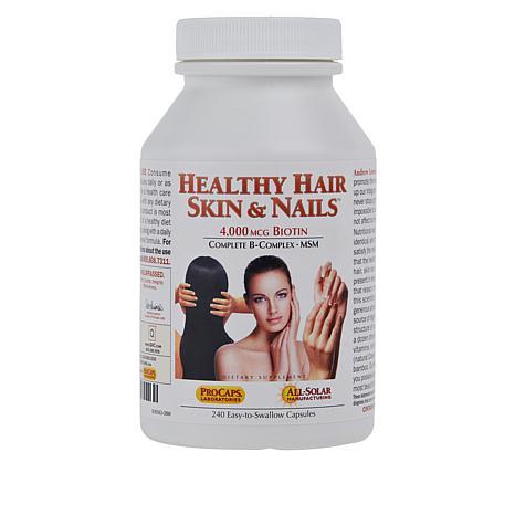 Healthy Hair, Skin and Nails - 240 Capsules