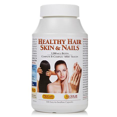 For healthy skin and hair