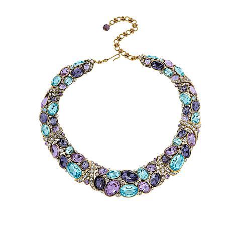 "Heidi Daus 16-3/4"" Multi-Color Crystal Collar Necklace"