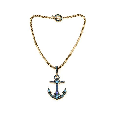"Heidi Daus ""Anchor's Away"" Crystal Pendant with Chain"