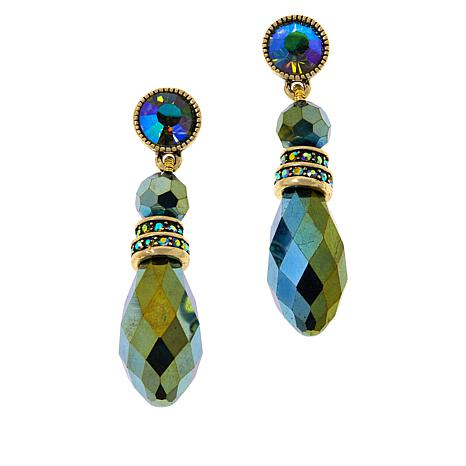 "Heidi Daus ""Beautiful Baroque"" Crystal Drop Earrings"