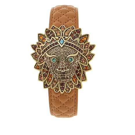 """Heidi Daus """"Bling of the Jungle"""" Covered Dial Watch"""