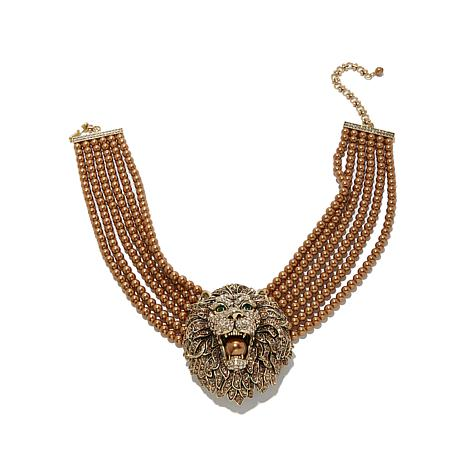 "Heidi Daus ""Call of the Wild"" Multistrand Drop Necklace"