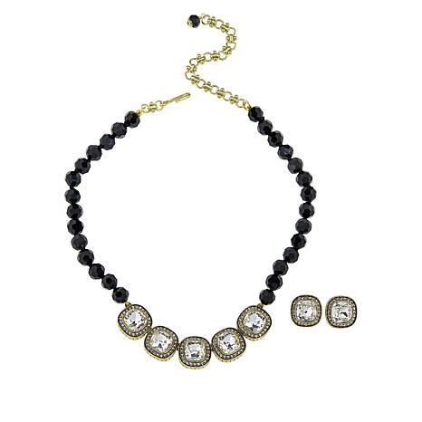 "Heidi Daus ""Captivating Cushion"" Necklace and Earring Set"