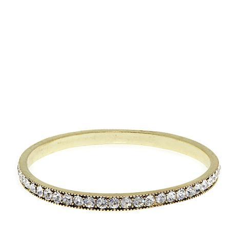 "Heidi Daus ""Chic Simplicity"" Crystal Bangle Bracelet"