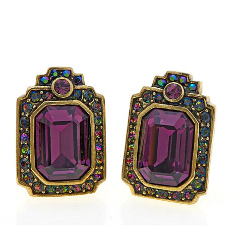 "Heidi Daus ""Crystal Hue Persuasion"" Crystal Earrings"