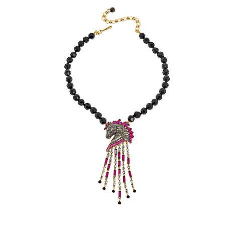 "Heidi Daus ""Decorative Dressage"" Beaded Crystal Drop Necklace"
