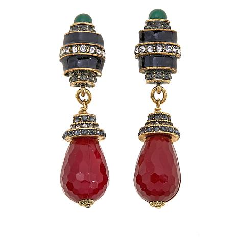"Heidi Daus ""Dynamic Deco"" Crystal Drop Earrings"